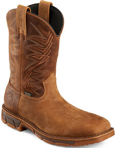 b0c07a66366 Irish Setter by Red Wing Shoes Mens Brown Marshall Work Boots - Steel Toe