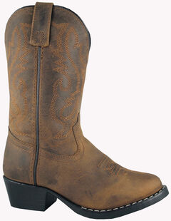Smoky Mountain Youth Boys' Denver Western Boots - Round Toe, Brown, hi-res