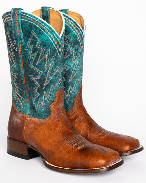 Cody James Men's Cooper Smooth Ostrich Exotic Boots - Square Toe, Brown, hi-res