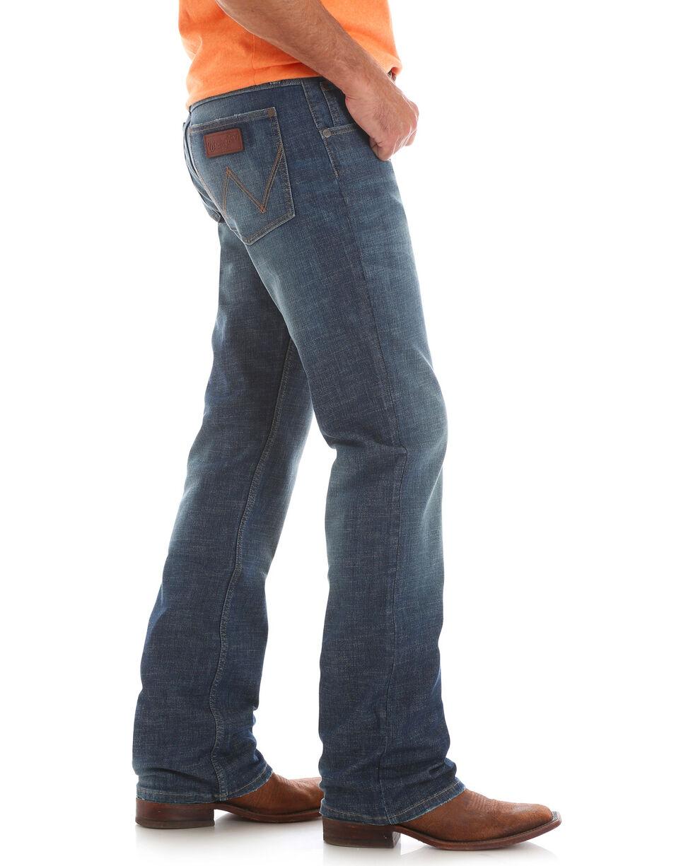 Wrangler Retro Men's Wolf Point Slim Medium Wash Jeans - Boot Cut, Blue, hi-res