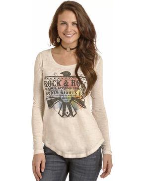 Rock & Roll Cowgirl Women's Cream Thunderbird Graphic Tee , Cream, hi-res