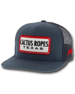 HOOey Men's Dark Blue Cactus Ropes Trucker Cap, Blue, hi-res