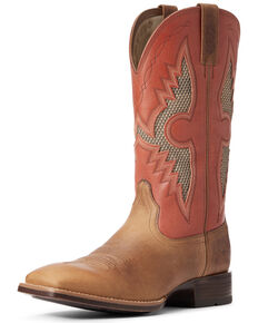 Ariat Men's Solado VentTEK Western Boots - Wide Square Toe, Brown, hi-res