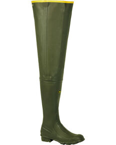 "LaCrosse Men's Big Chief 32"" Wader Boots - Round Toe , Green, hi-res"