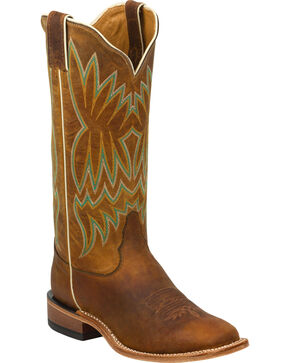 Tony Lama Soft Honey Americana Cowgirl Boots - Square Toe, Honey, hi-res