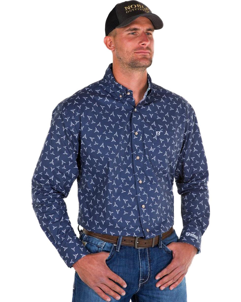 Noble Outfitters Men's Navy Generations Bull Skull Shirt , Navy, hi-res