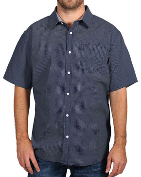 Cody James Men's Textured Short Sleeve Shirt , Navy, hi-res