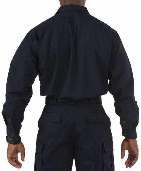 5.11 Tactical Taclite TDU Long Sleeve Shirt - Tall Sizes (2XT - 5XT), Navy, hi-res