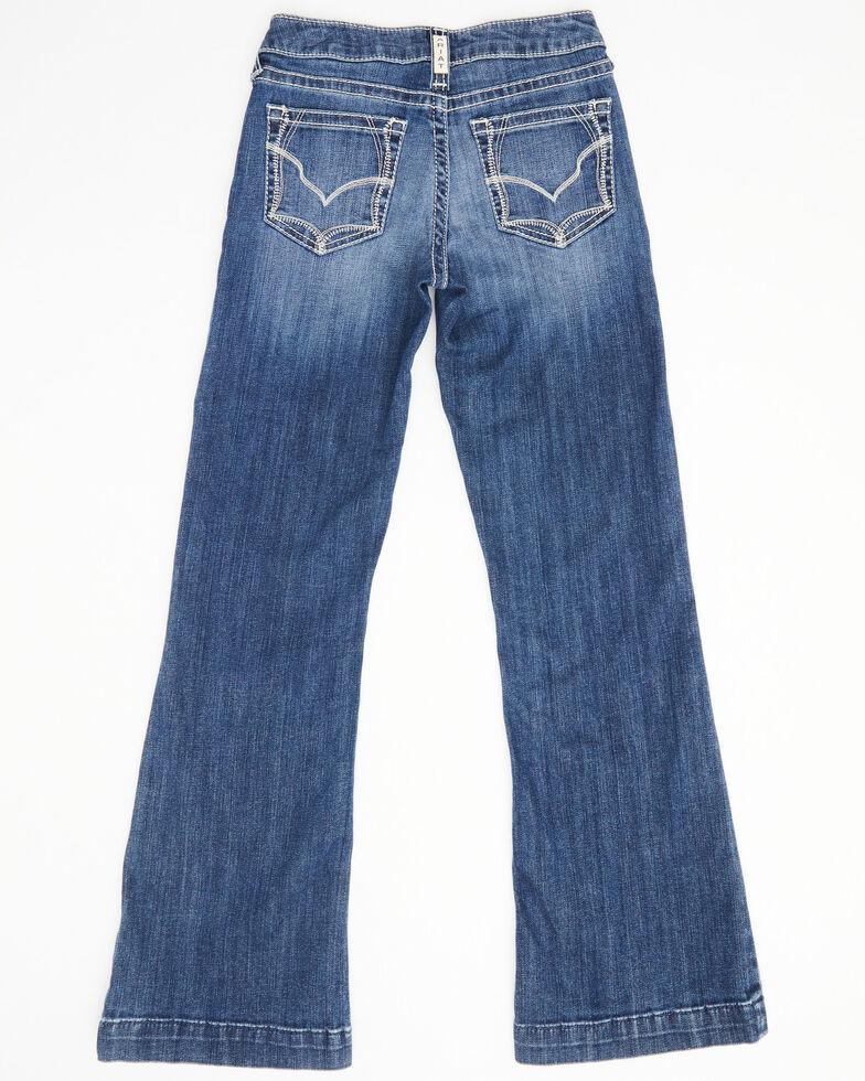 Ariat Girls' R.E.A.L Vivian Stretch Bootcut Jeans , Blue, hi-res