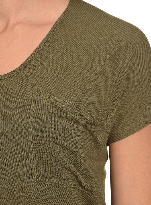 Derek Heart Women's Single Pocket Hi/Low Shirttail Hem Tee, , hi-res