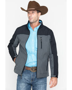 Cody James Core Men's Poly Zip-Up Steamboat Soft Shell Jacket - Big , Black, hi-res