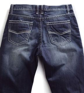 Tin Haul Men's Regular Joe Straight Leg Contrast Stitch Jeans, Denim, hi-res
