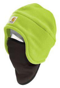 Carhartt High-Visibility Color Enhanced 2-in-1 Headwear, Lime, hi-res
