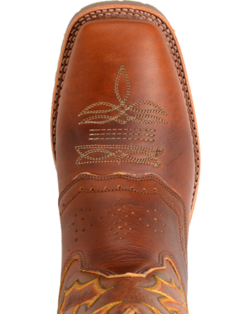 Double H Men's Snakebite Saddle Vamp Western Boots - Square Toe , Brown, hi-res