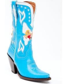 Dan Post Women's Electric Blue Western Boots - Snip Toe, Blue, hi-res