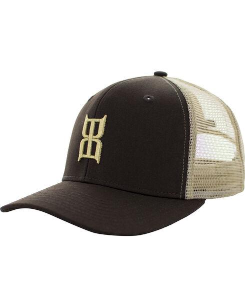 BEX Boys' Brown Khaki Icon Logo Cap, Brown, hi-res