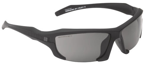 5.11 Tactical Burner Half Frame Sunglasses (Three Polarized Lens), Black, hi-res