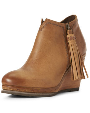 Ariat Women's Graceland Tan Fashion Booties - Round Toe, Tan, hi-res
