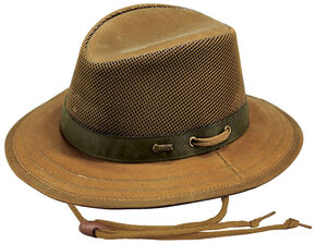 Outback Trading Co. Oilskin Willis with Mesh Hat, Tan, hi-res