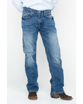 Ariat Men's M2 Fargo Relaxed Boot Cut Jeans, Blue, hi-res