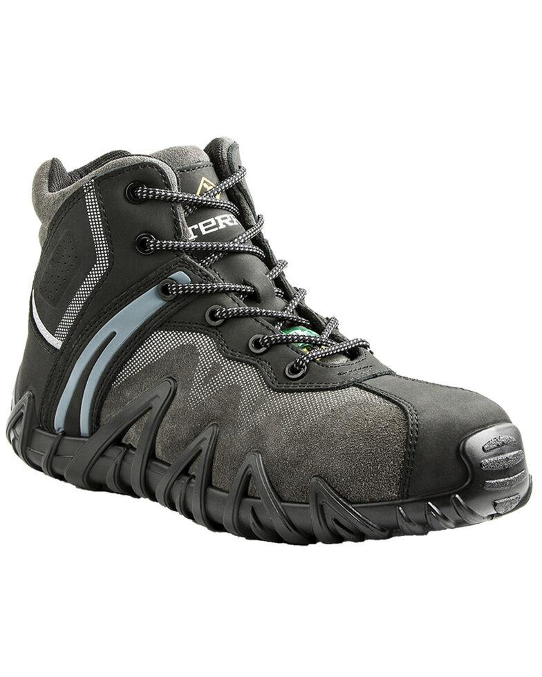 Terra Men's Black Venom Mid Work Shoes - Composite Toe, Black, hi-res