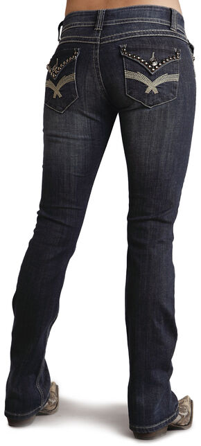 Stetson Women's 818 Contemporary Boot Cut Jeans - Plus, Denim, hi-res