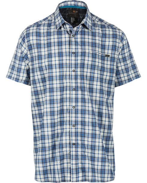 5.11 Tactical Men's Hunter Plaid Short Sleeve Shirt , Blue, hi-res