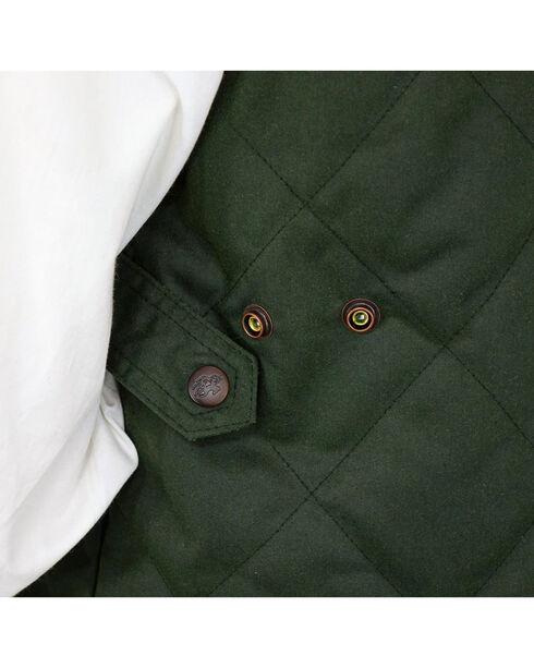 Outback Trading Co. Men's Green Drover Vest , Green, hi-res
