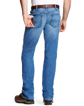 Ariat Men's Rebar M4 Blue Haze Low Rise Jeans - Boot Cut, Blue, hi-res