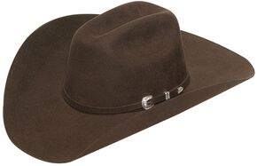 Twister Mens Laredo Self Band with Three-Piece Buckle Hat 59583f5450f1