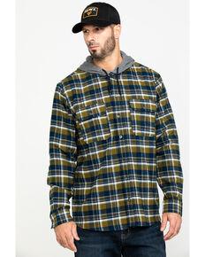 Hawx Men's Grey Plaid Hooded Flannel Shirt Work Jacket , Grey, hi-res