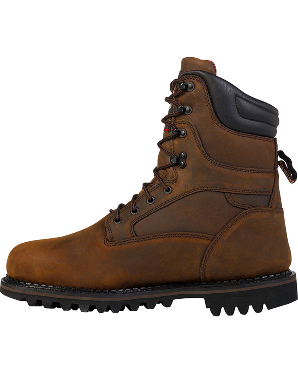 Georgia Men's Arctic Toe Waterproof Insulated Work Boots, Brown, hi-res