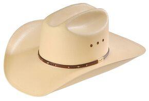 Resistol George Strait Men's Palo Duro 8X Straw Cowboy Hat, Natural, hi-res