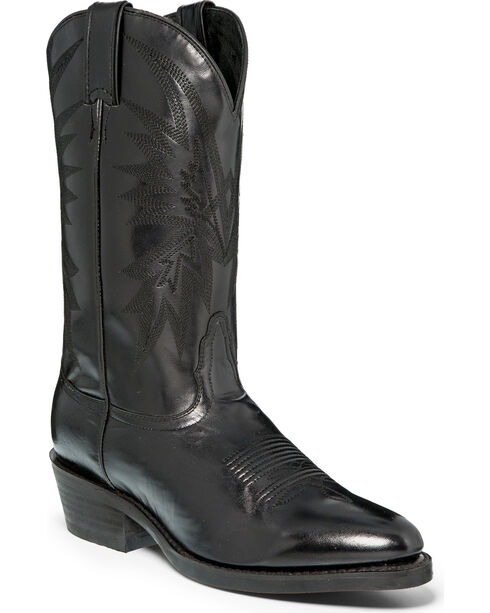 """Nocona Men's Black 12"""" Cowboy Boots - Round Toe, Black, hi-res"""