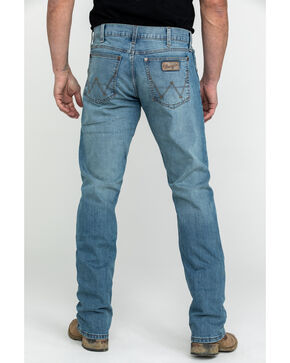 Wrangler Men's Mobile Slim Straight Jeans - Long , Blue, hi-res