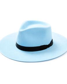 Shyanne Women's Light Blue Wool-Felt Western Hat  , Light Blue, hi-res