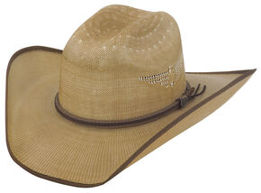 Justin Bent Rail Tan Fenix Straw Cowboy Hat, Tan, hi-res