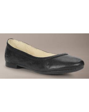 Frye Girls' Carson Ballet Flats, Black, hi-res