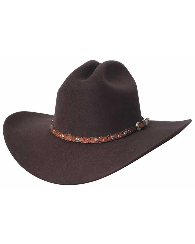 Bullhide Pistol Pete 6X Premium Wool Cowboy Hat, Chocolate, hi-res