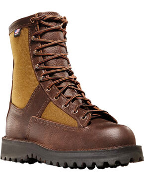 """Danner Men's Brown Grouse 8"""" Hunting Boots - Round Toe , Brown, hi-res"""