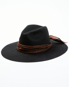 Idyllwind Women's Mystic River Wool Felt Western Hat , Black, hi-res