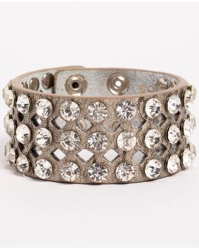 Shyanne Women's Multi-Rhinestone Cuff Bracelet, Silver, hi-res