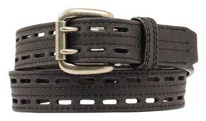 Nocona HDX Double Hole Belt, Black, hi-res