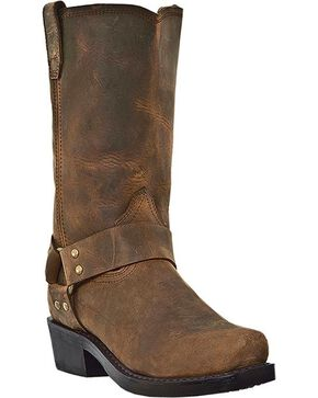 Dingo Dean Harness Boots - Square Toe, Dark Brown, hi-res