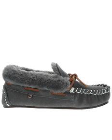 Lamo Footwear Women's Mila Charcoal Slippers - Moc Toe, Charcoal, hi-res