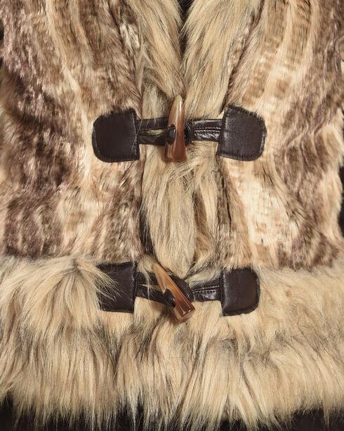 Powder River Outfitters Women's Brown Fur Edge Vest , Camel, hi-res