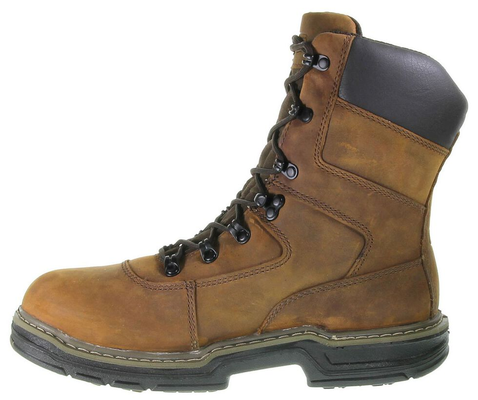 """Wolverine Marauder 8"""" Waterproof & Insulated Lace-Up Work Boots - Round Toe, Brown, hi-res"""