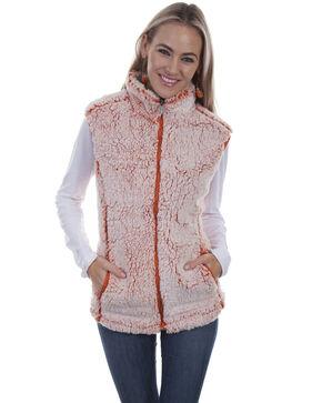 Honey Creek By Scully Women's Tangerine Zip-Up Sherpa Vest , Orange, hi-res