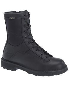Bates Men's Durashocks Lace-Up Work Boots - Soft Toe, Black, hi-res