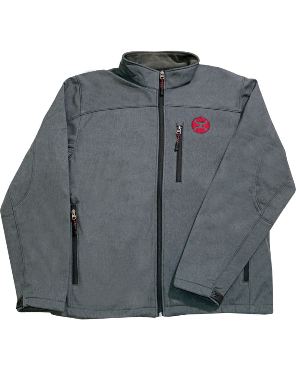 HOOey Men's Grey Soft Shell Fleece Lined Jacket , , hi-res